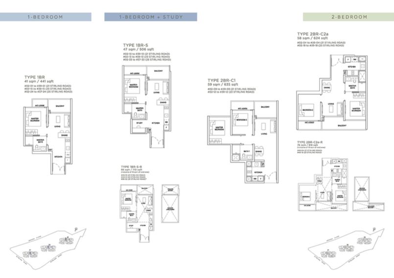 Stirling Residences 1 Bedroom Floor Plan