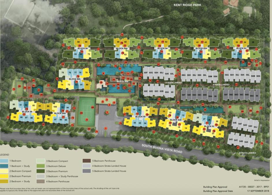 Site Plan - Kent Ridge Hill Residences